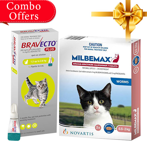 Bravecto Plus + Milbemax Cats Combo Pack