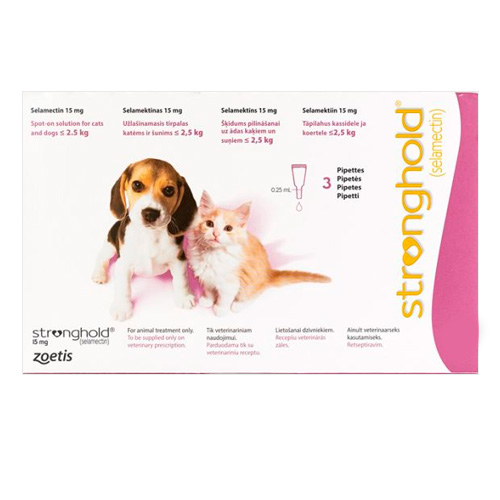 Kittens & Puppy Upto 2.6 Kg 15 mg (Rose)