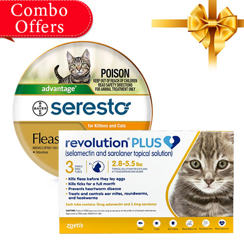 Revolution Plus + Seresto Collar Combo Pack for Cats